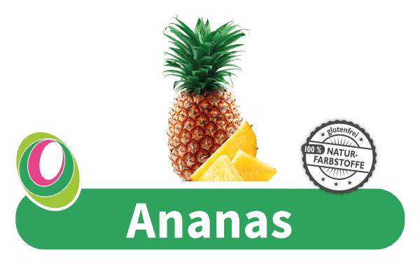 Abbildung einer Ananas mit entsprechender Beschriftung.
