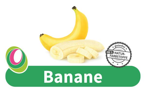 Abbildung einer Banane mit entsprechender Beschriftung.