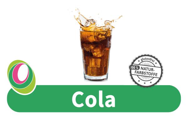 Abbildung eines Glas Cola mit entsprechender Beschriftung.
