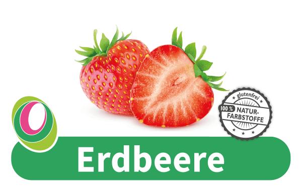 Abbildung eines Erdbeere mit entsprechender Beschriftung.