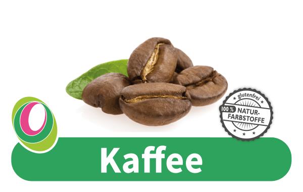 Abbildung von Kaffeebohnen mit entsprechender Beschriftung.