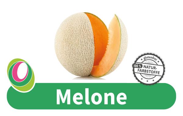 Abbildung einer Melone mit entsprechender Beschriftung.