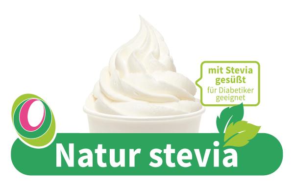 Abbildung des Frozen Yogurt Natur Stevia mit entsprechender Beschriftung.