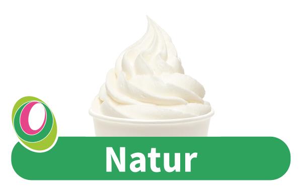 Abbildung des Frozen Yogurt Natur mit entsprechender Beschriftung.