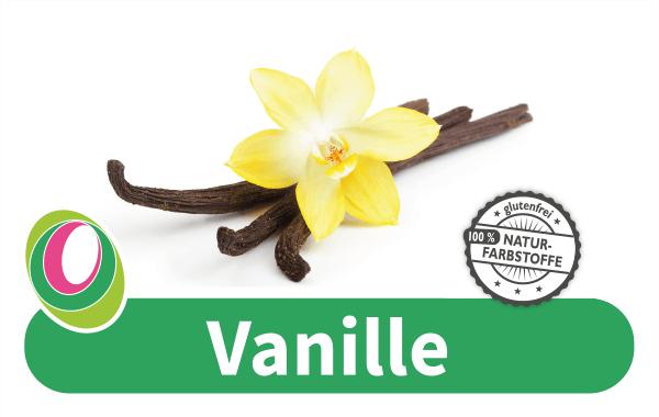 Abbildung eine Vanille-Schote mit entsprechender Beschriftung.