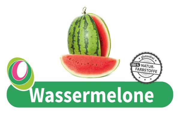 Abbildung einer Wassermelone mit entsprechender Beschriftung.
